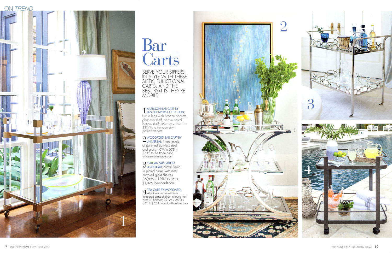 Tea Cart  May June 2017  Southern Home. Media   Woodard Furniture