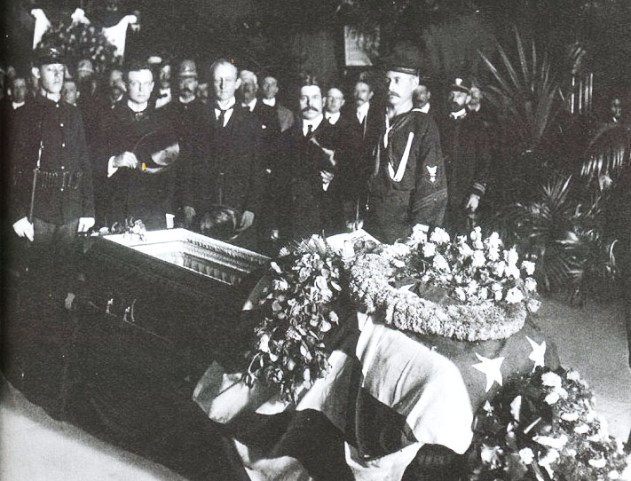 McKinley Lying in State in Buffalo City Hall. September 15, 1901