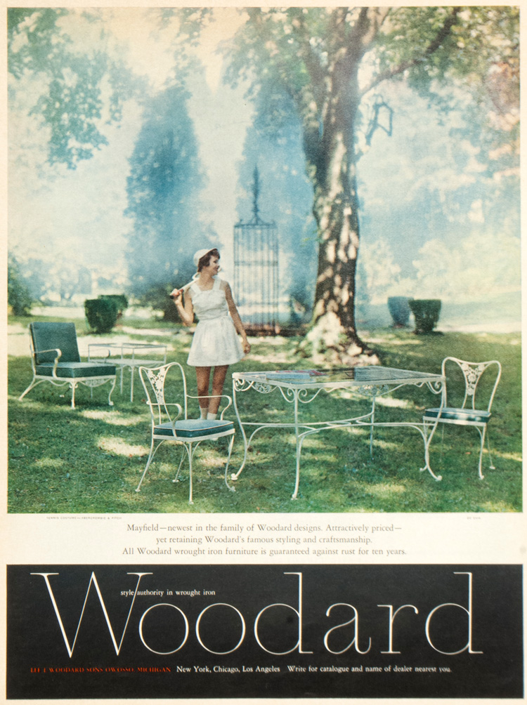 Woodard Furniture Mayfield Collection ad - 1962