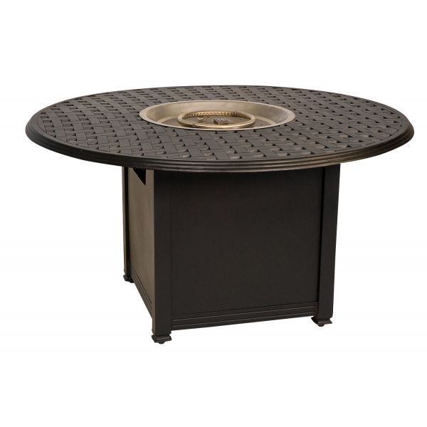 Universal Square Fire Pit Base with Round Burner