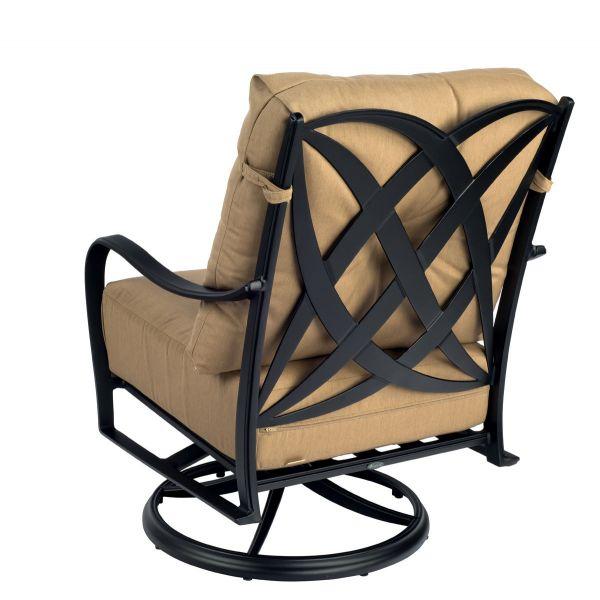 Apollo Swivel Rocker Lounge Chair with Cushions - Back