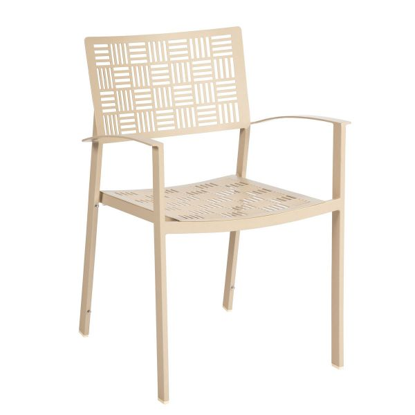 New Century Dining Arm Chair - Stacking in white