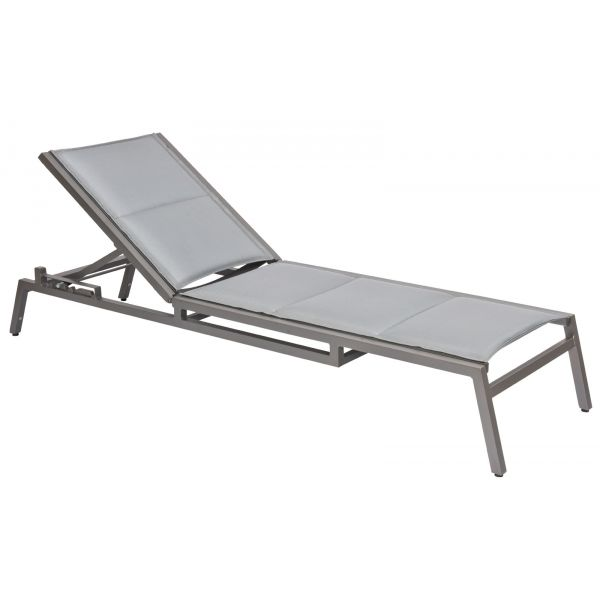 Palm Coast Padded Sling Adjustable Chaise Lounge - Stacking