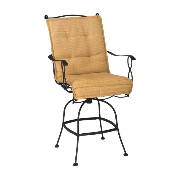 Woodard Direct Rialto Swivel Bar Stool with Cushion