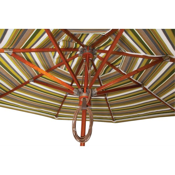 Hardwood Pulley Market Umbrella Details