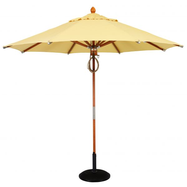 deluxe wood market umbrella
