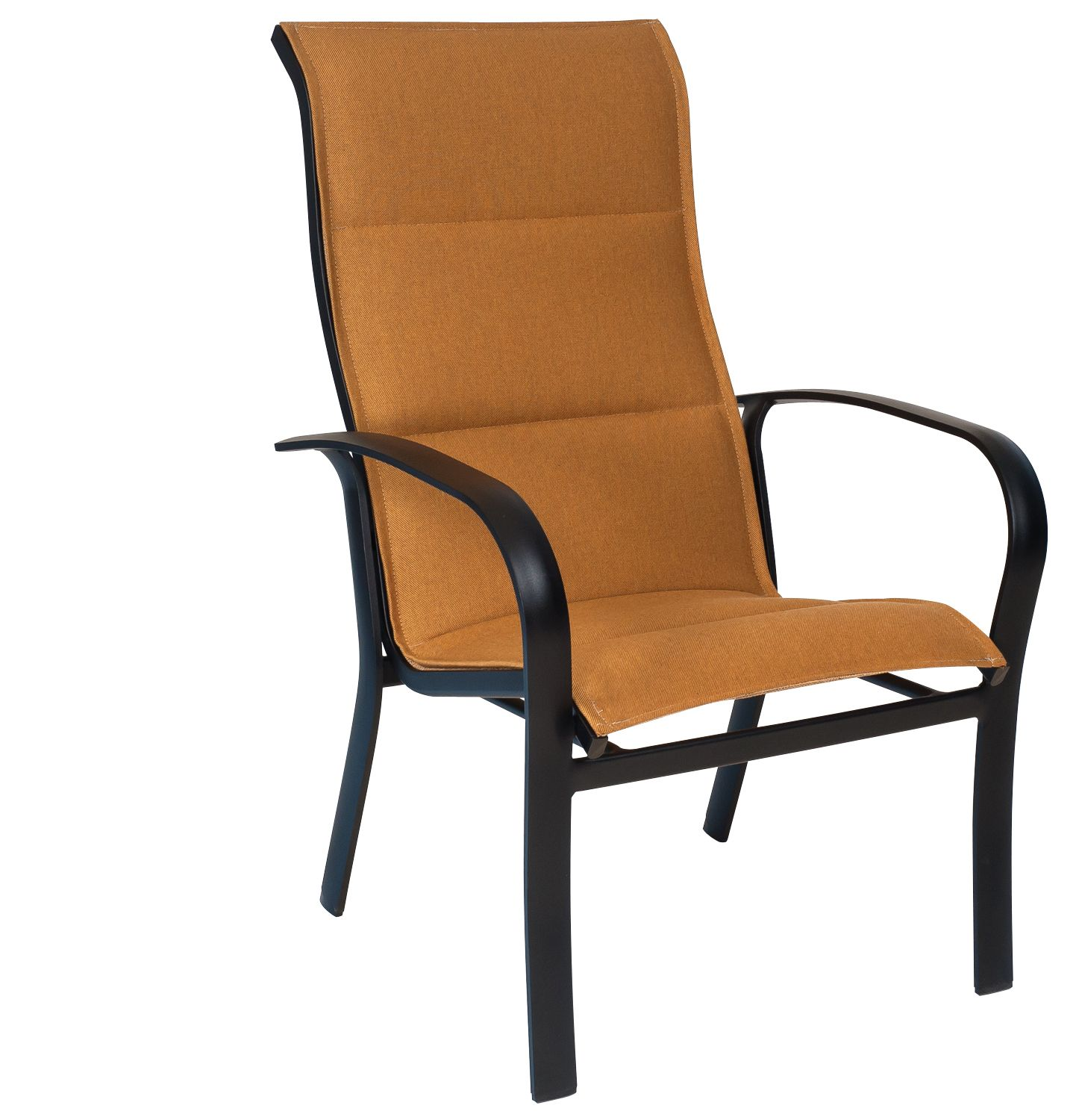 Fremont Padded Sling High Back Dining Armchair Stackable