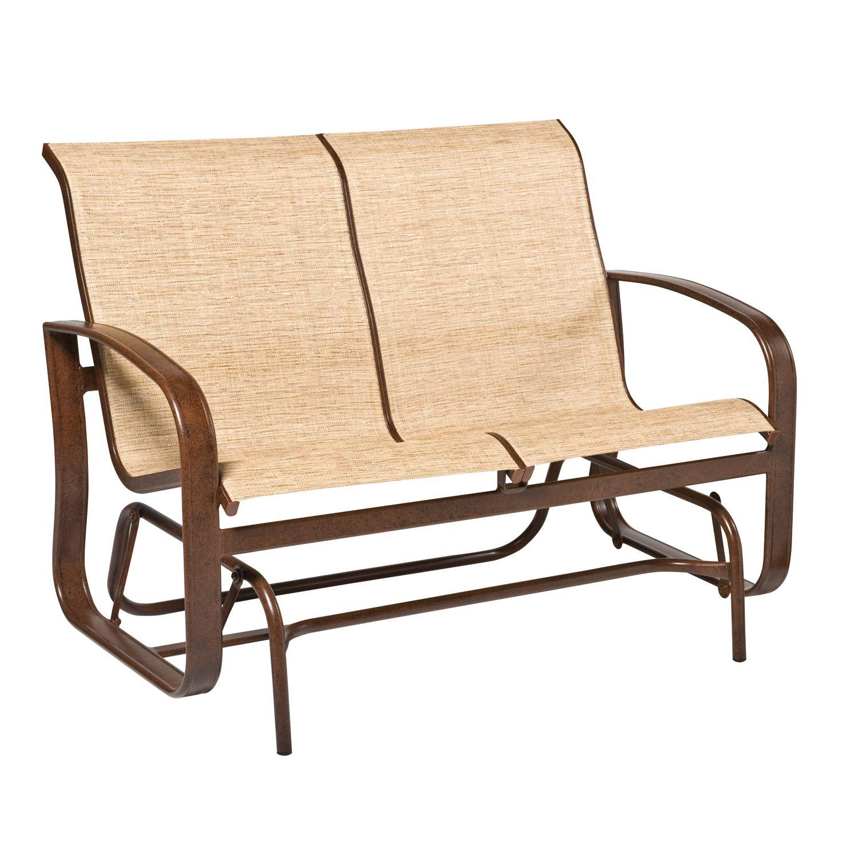 Cayman Isle Sling Gliding Loveseat Woodard Furniture