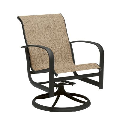 Fremont Sling Swivel Rocking Dining Armchair