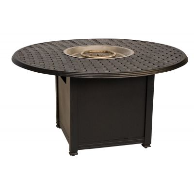 Universal Square Fire Table Base with Round Burner