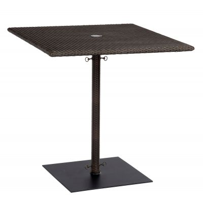 All-Weather Square Umbrella Counter Height Table with Weighted Base