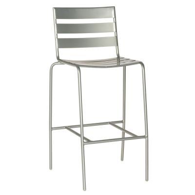 Café Series Metro Mercury Stationary Bar Stool