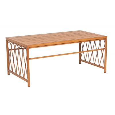 Cane Coffee Table with Slatted Top
