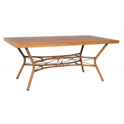 Cane Rectangular Slatted Top Dining Table