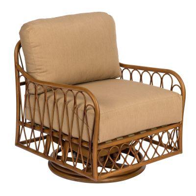 Cane Swivel Rocking Lounge Chair