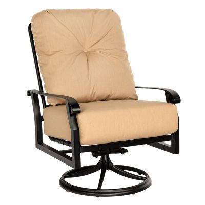 Cortland Cushion Big Man's Swivel Rocking Lounge Chair