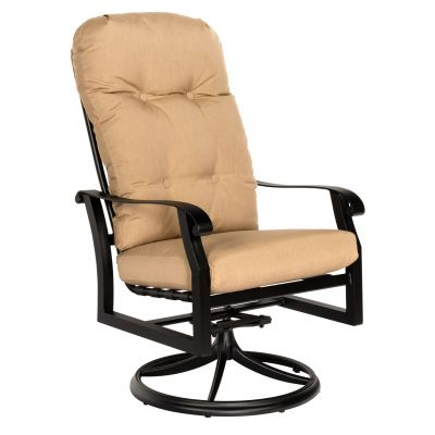 Cortland Cushion High Back Swivel Rocking Dining Armchair