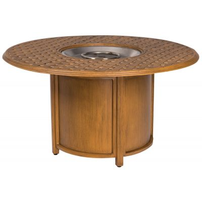 "Glade Isle 48"" Thatch Top Round Fire Table"