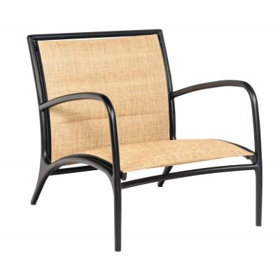 Orion Padded Sling Lounge Chair - Low Seat