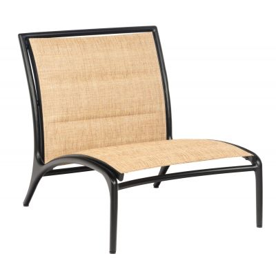 Orion Padded Sling Armless Lounge Chair - Low Seat