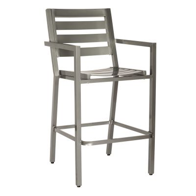 Palm Coast Slat Bar Stool with Arms