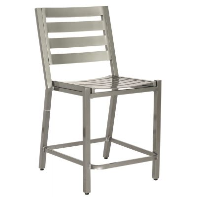 Palm Coast Slat Counter Stool without Arms