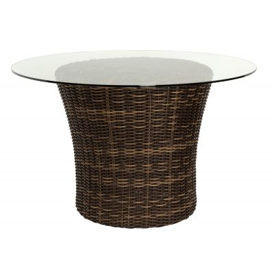 "Sonoma 48"" Round Dining Base with Glass Top"