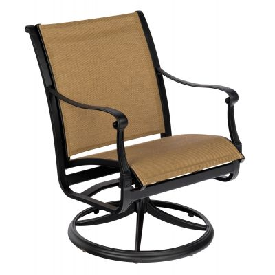 Wiltshire Sling Swivel Dining Armchair