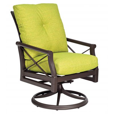 Andover Cushion Swivel Rocking Dining Armchair