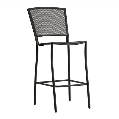Café Series Albion Textured Black Stationary Bar Stool