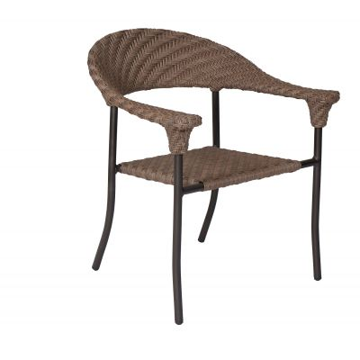 Barlow Dining Armchair - Stackable - Bronzed Teak