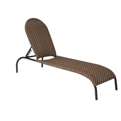 Barlow Adjustable Chaise Lounge- Stackable - Bronzed Teak