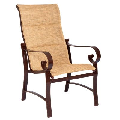 Belden Padded Sling High-Back Dining Armchair