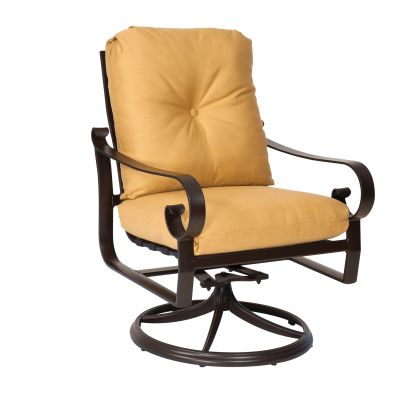 Belden Cushion Swivel Rocking Dining Armchair