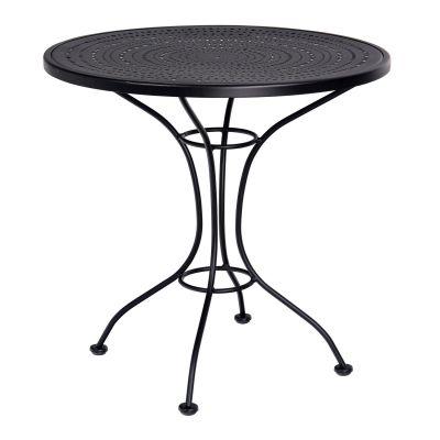 """Parisienne 30"""" Round Pattern Metal Bistro Table"""