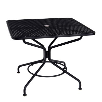 "Café Series Textured Black + Plus 36"" Square Dining/Umbrella Table"