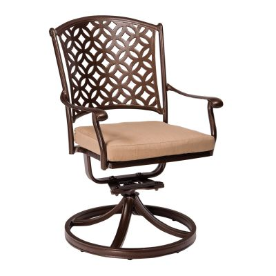 Casa Swivel Rocking Dining Armchair with Optional Seat Cushions