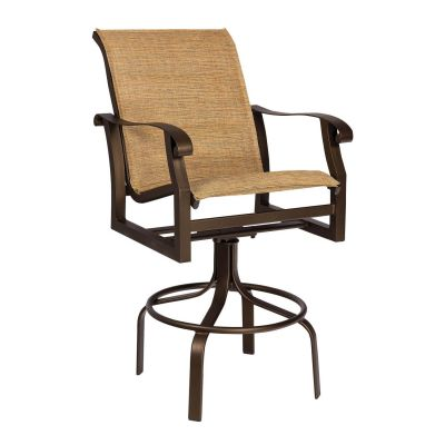 Cortland Padded Sling Swivel Bar Stool
