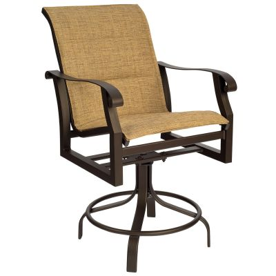 Cortland Padded Sling Swivel Counter Stool