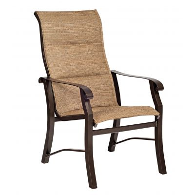 Cortland Padded Sling High-Back Dining Armchair