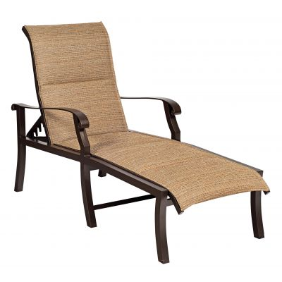 Cortland Padded Sling Adjustable Chaise Lounge