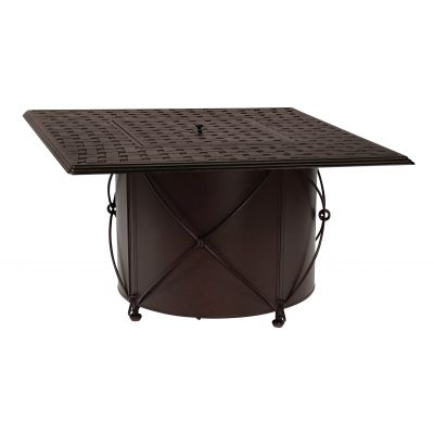 Derby Accented Universal Round Fire Table Base with Square Burner