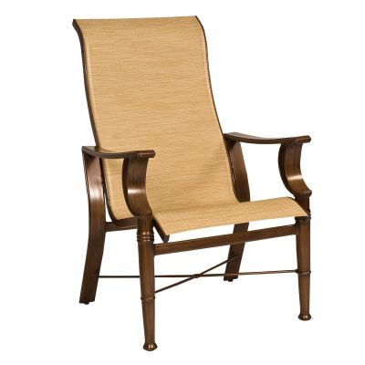 Arkadia Sling High-Back Dining Armchair
