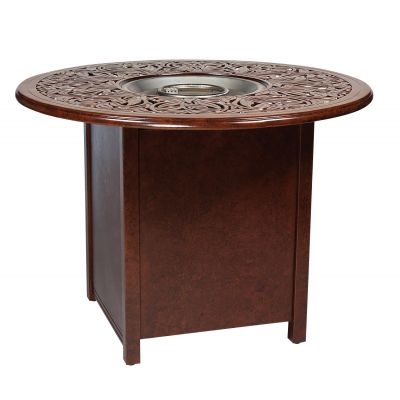 Square Counter Height Fire Table Base with Round Burner