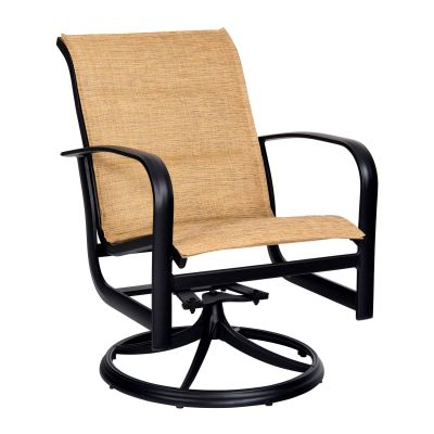 Fremont Padded Sling Swivel Rocking Dining Armchair