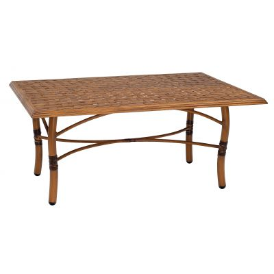 Glade Isle Tables Rectangular Coffee Table with Thatch Top