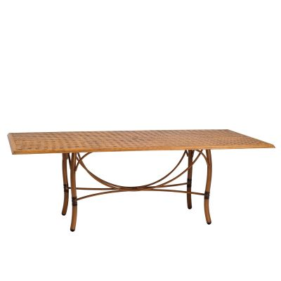 Glade Isle Tables Rectangular Dining Table with Thatch Top