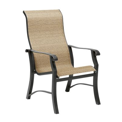 Cortland Sling High-Back Dining Armchair