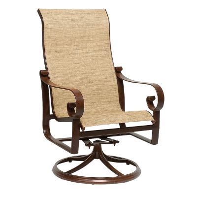 Belden Padded Sling High Back Swivel Rocking Dining Armchair