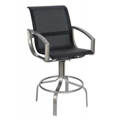 Metropolis Sling Swivel Bar Stool